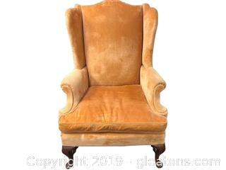 Vintage High Back, Chippendale Style Armchair