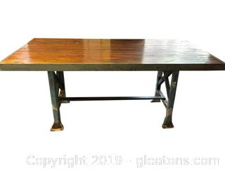 Amazing Industrial Iron Table with Re-Purposed Wood Top