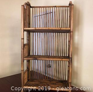 Nice Bamboo Shelf Unit.