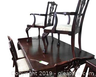Set Of 6 Chairs To Match Table In Lot 802. 2 Are Arm Chairs.