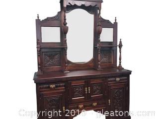 Stunning Vintage Buffet Cabinet