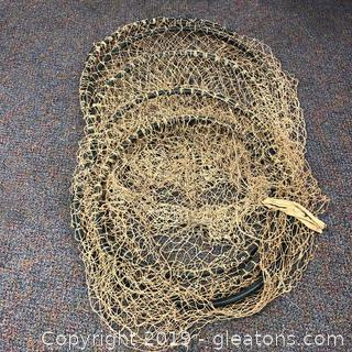 Vintage Huge Fish Net Trapper.