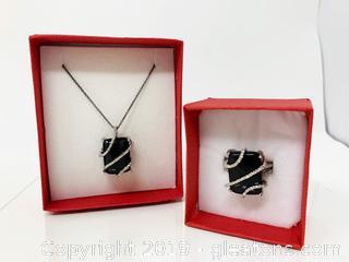 Diamond And Onyx Set