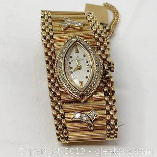 Lady's 14KT Yellow Gold And Diamond La Triomphe Timepiece Appraised
