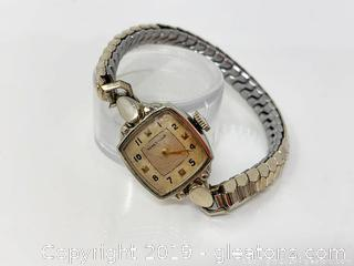 Ladies Watthman Wrist Watch Stamped 14k
