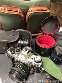 Lot Of Canon Camera And Lenses