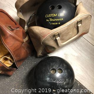 Lot Of Vintage Bowling Balls