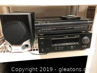 Stereo And Speaker Lot