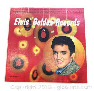 Rare Elvis Presley Mono Golden Vinyl Record