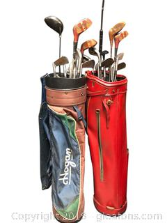 Vintage Golf CLubs In Bags