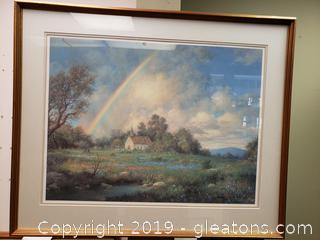 Nicely Framed Rainbow Landscape Print