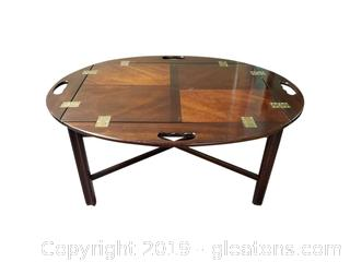 Beautiful Mahogany Butler's Tray Cocktail Servier Table By Brandt