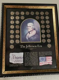 The Jefferson Era State Nickels Framed