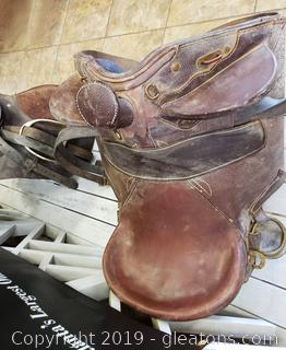 Vtg. Leather Horse Saddle/Australian
