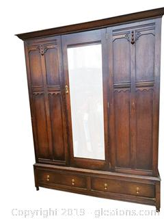 Antique Chifforobe Linen Press Cupboard