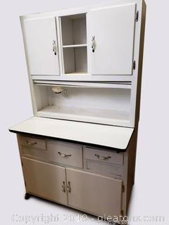 Antique White Hoosier Cabinet