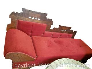 Victorian Eastlake Fainting Couch