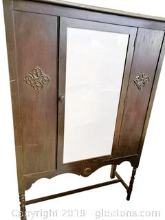 Small Antique China Display Cabinet