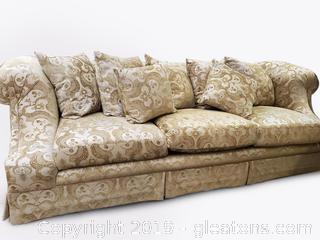 """Erwin-Lambeth Tomlinson"" Custom Designer Large Sofa"
