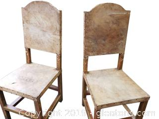 Pair of Raw Hide Chairs