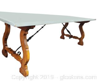 Exquisite Farm House Vtg. Large Dining Table