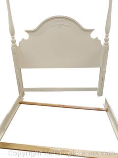 """Lexington"" White Wooden Queen Bed"