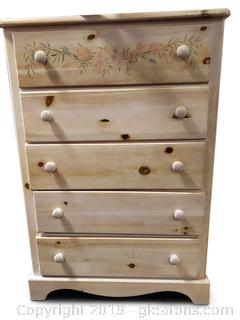 Small Wooden Hand Painted Chest Of Drawers