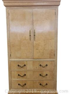 """Henredon"" Vtg. TV Armoire Entertainment Center"