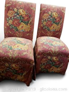 PR Of Parson Floral Chairs