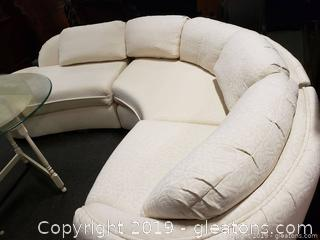 Mid Centry Norwalk Furniture Co. Circular Vtg. Lounge Sofa