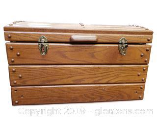 Vtg. Wooden Tool Box, Chest