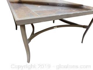 Large Tile Top Metal Coffee Table