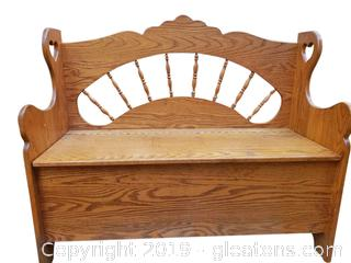 Child's Wooden Bench, Toy Box