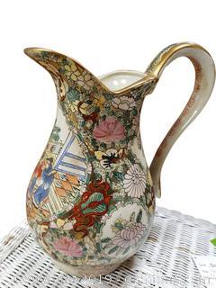 Antique Oriental Gold Moriage Porcelain Vase