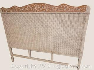 Jamaica Collection Pier 1 Queen White Wicker Head Board