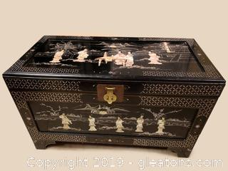Vtg. Oriental Chinese Storage Trunk