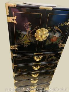 Oriental Lingerie Black Laquer Chest