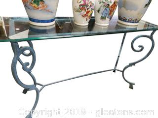 Glass Top Entry Sofa Table