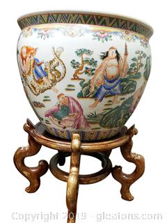Vintage Chinese Ginger Jar Planter