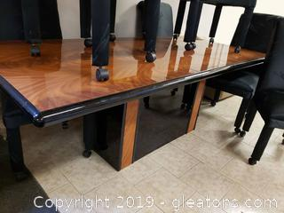 Large Extendable Sleek Stylish Table