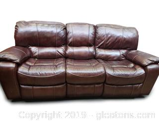 Great Condition Brown Reclining Sofa
