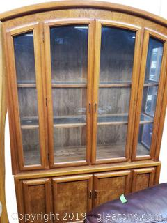 Large (2) Piece Display China Cabinet