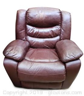 Used Gently Leather Recliner
