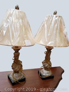 Pr Of Table Lamps