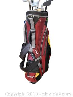 """New"" Tiger Shark Golf Clubs And Penn Golf Bag"