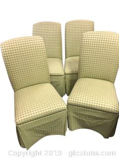 Collection of Gingham Rolling Parsons Chairs