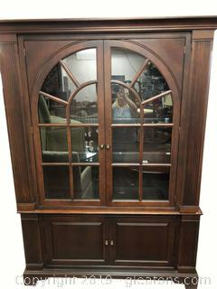 Large Traditional Arch Window Glass China Cabinet