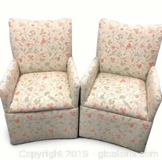 Pair of Cheerful Accent Chairs