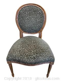 Unique Carved Resin Upholstered Accent Chair