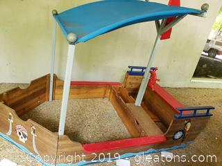 Adorable Sand Box Ship For Your Home